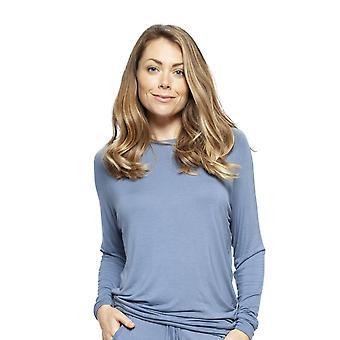 Cyberjammies 4243 vrouwen ' s Harper blauwe modale pyjama top