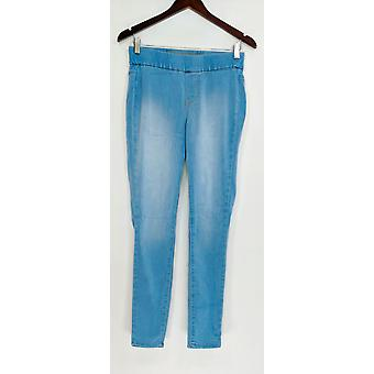 Denim & Co. Leggings distressed Pull-On Stretch blau A295070