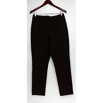 Susan Graver Femmes apos;s Pantalon Multi Stretch Comfort Waist Brown A271513