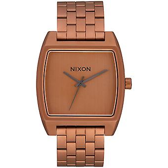 Nixon time tracker watch for Women Digital Quartz with stainless steel bracelet plated in A12453165 gold