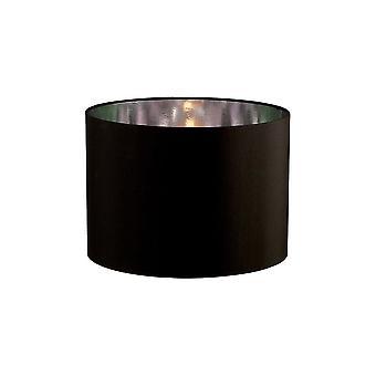 Diyas Duo Round Shade Small Black/Chrome 300mm X 220mm