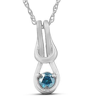 Diamond Knot pendentif Petite 10K White Gold 1/2