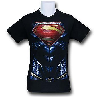 Superman Hombre de Armadura de Acero Traje Camiseta