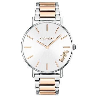 Coach   Womens   Perry   Two Tone Bracelet   Silver Dial   14503346 Watch