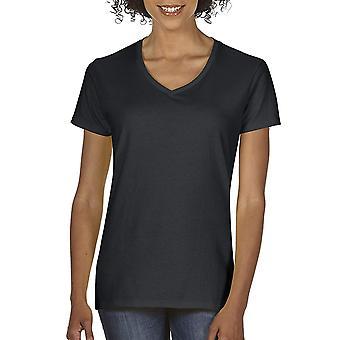Gildan kvinder ' s plus size tung bomuld V-hals T-shirt,, sort, størrelse xxx-stor