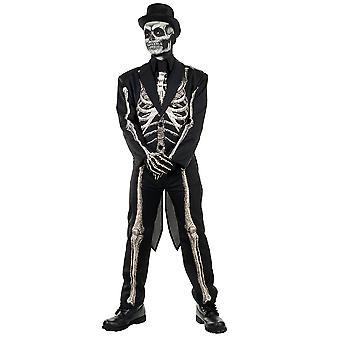 Costume d'os pour des adolescents