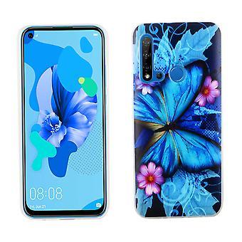 Huawei P20 Lite 2019 Custodia protettiva custodia protettiva paraurti Butterfly Blue