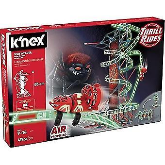 K'NEX Thrill Rides - Web Weaver Achterbahn Bau set (439 Stück), ab 9 Jahren - Bau pädagogisches Spielzeug