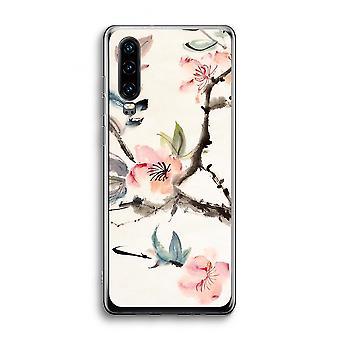Funda transparente Huawei P30 - Flores de Japenese
