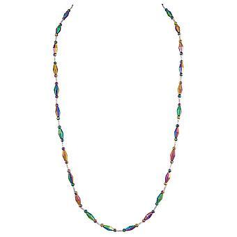 Eternal Collection Spectrum Rainbow Hematite pitkä helmillä kaula koru