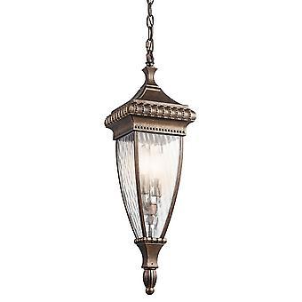 Lanterne en chaîne extérieure pluie vénitienne - Elstead éclairage Kl / Venetian8 / KL/VENETIAN8/M