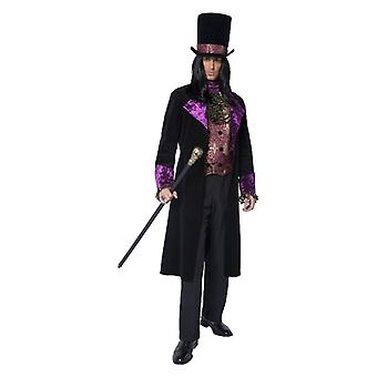 Mens a contagem gótico Halloween fantasia vestido
