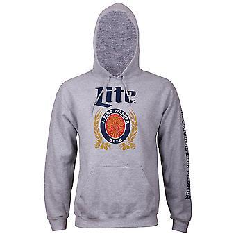 Miller Lite Beer sleeve print grå hættetrøje til mænd