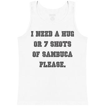 I Need A Hug or 7 Shots Of Sambuca Please - Mens Vest