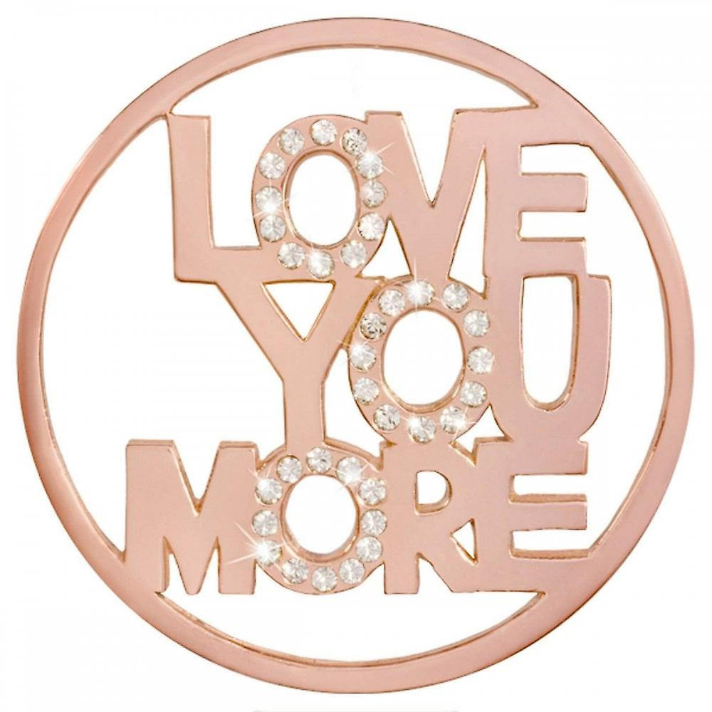Nikki Lissoni Love You More Large Rose Gold Plated Coin C1413RGL