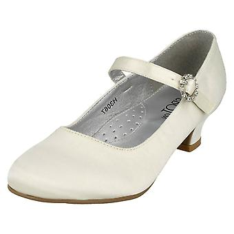 Girls Spot On Satin Party Shoes H3067