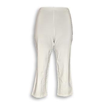 Women with Control Women's Pants Tushy Lifter Capri White A354358