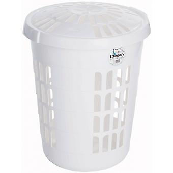 Casa Round Laundry Basket With Lid