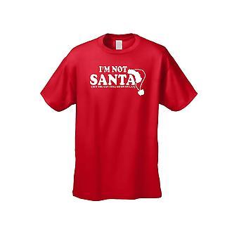 Unisex no soy Santa pero que usted puede sentarse en mi regazo de manga corta camiseta