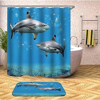 Haai tank douche gordijn