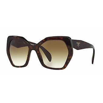 Prada SPR16R 2AU/4M0 Havana/bruin groen gradiënt zonnebril