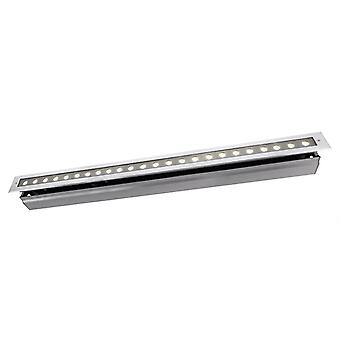 Lampa podłogowa LED wpuszczona linia VI WW 34W 3000 K 20° 1025 mm srebrny IP67