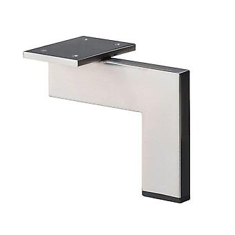 Stainless steel/INOX design Corner profile Furniture Leg 13 cm