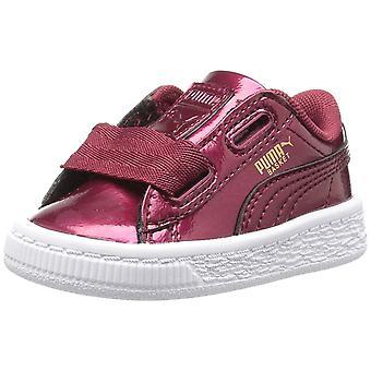 PUMA Kids' Basket Heart Glam Sneaker