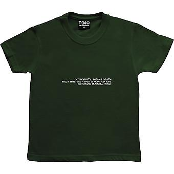 Conformity Means Death - Bertrand Russell Racing Green Kids' T-Shirt