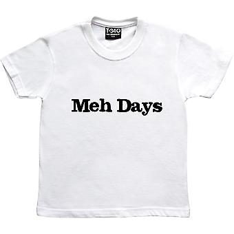 Meh Days White Kids' T-Shirt