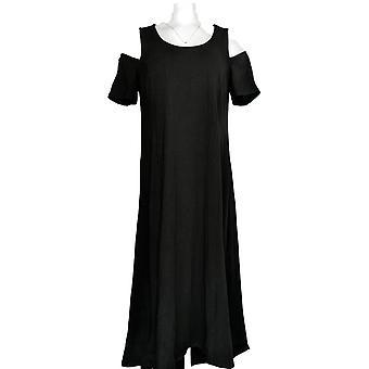 Isaac Mizrahi Live! Kleid Cold Shoulder Black A346452