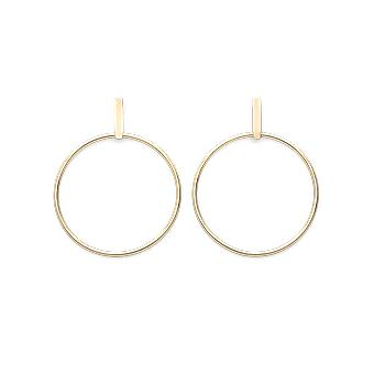 Rosefield JHBEG-J071 Earrings - Iggy Rings Laiton Yellow Gold Bar Collection