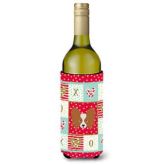 Carolines Treasures  CK5224LITERK Papillon Wine Bottle Beverage Insulator Hugger