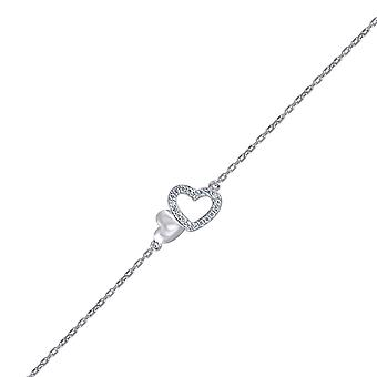 925 Sterling Silver CZ Cubic Zirconia Gesimuleerde Diamond Double Love Hearts 1.32gm Womens Bracelet Sieraden Geschenken voor Wome