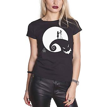 The Nightmare Before Christmas T Shirt Moon Oogie Boogie Official Womens Black