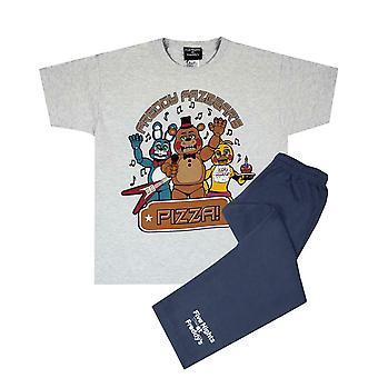 Five Nights At Freddy's Boy's Kids Grey Navy Pyjamas Nightwear Set