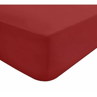 Extra tief einbaue Bettlaken Rot - Doppel