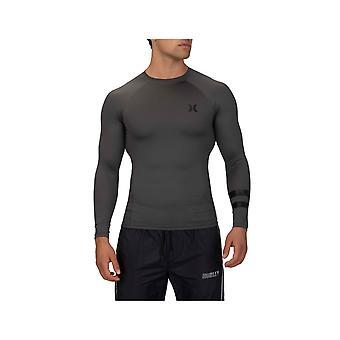Hurley Pro Light Top Long Sleeve Rash Vest in Iron Grey