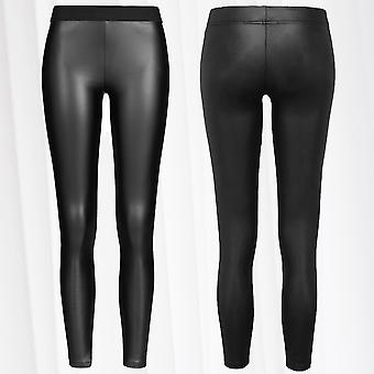 Women's Leggings Leather Optics Pants Stretch Oversize Shiny Treggings Plus Size