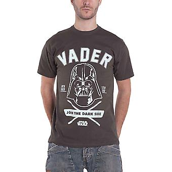 Official Mens Star Wars T Shirt Darth Vader Join the Darkside Sith New Charcoal
