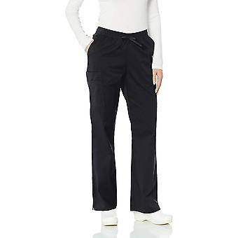 Amazon Essentials Women's Quick-Dry Stretch Scrub Pant,, Black, Size Medium