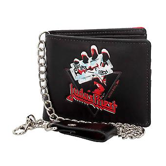 Judas Priest Wallet British Steel Band Logo new Official Black Bifold With Chain