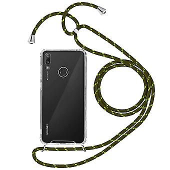Braided Nylon Lanyard Phone Case for Huawei Y7 2019 - Forcell, Green