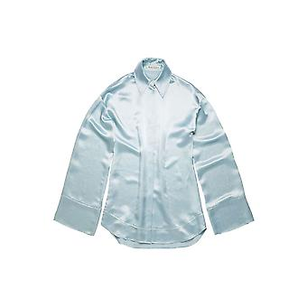 Acne Studios Ac0203aqo Women's Light Blue Acetate Blouse