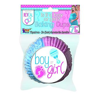 Bristol Novelty Gender Reveal Baking Cups (Pack Of 75)