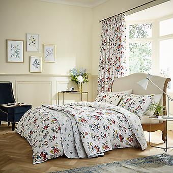 Sweet Geranium Floral Bedding And Pillowcase By V&A In Multi