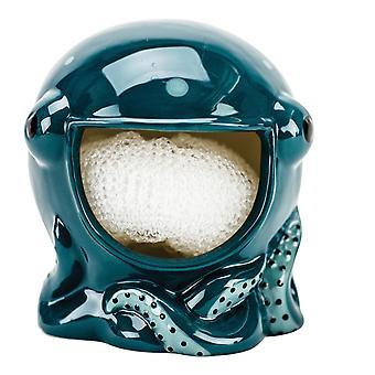 Boston Warehouse Blue Octopus Holder Scrubby o soporte de barra de jabón