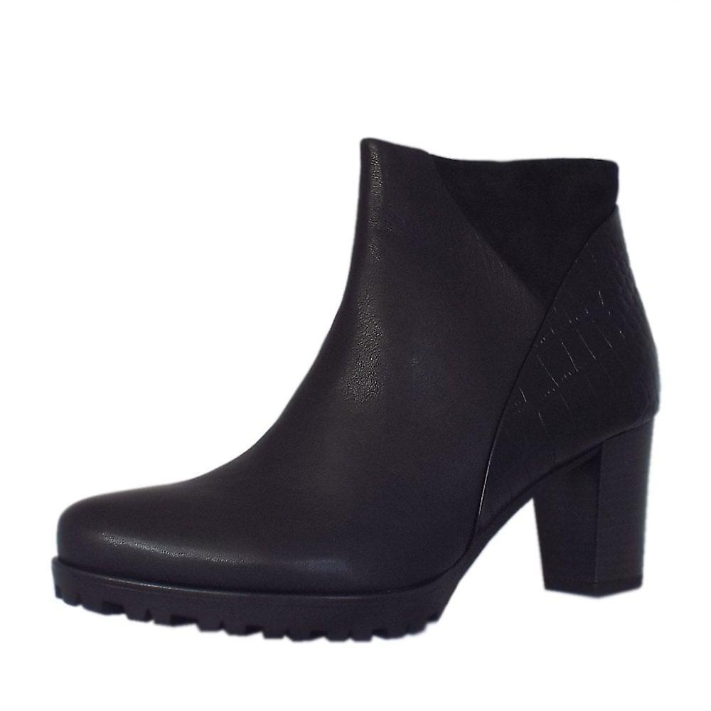 Gabor Calista Modern Mid Heel Ankle Boots In Black grgai