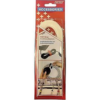 FASTECH® 696-010 Krok-och-slinga tejp för buntning Krok och slinga pad (L x W) 5000 mm x 10 mm Vit 5 m