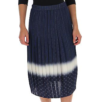 Tory Burch 56560424 Women's Blue Silk Skirt